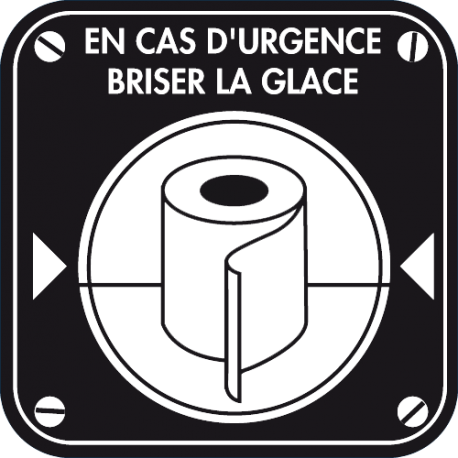 Stickers muraux WC drole