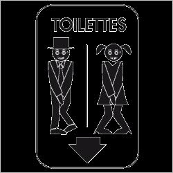 Sticker homme femme wc