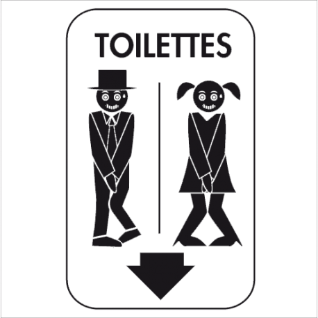 stickers toilettes pour porte et mur de wc homme femme decorecebo. Black Bedroom Furniture Sets. Home Design Ideas