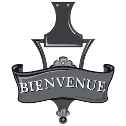 Stickers deco Bienvenue gris