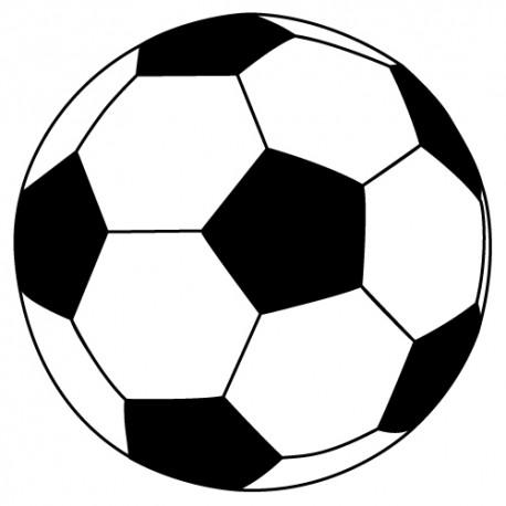 Sticker ballon foot noir et blanc pour d co sport enfants et club d cor c bo - Ballon de foot noir et blanc ...