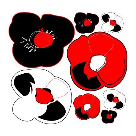 Sticker fleur - Pop