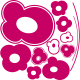 Sticker de grosses fleurs