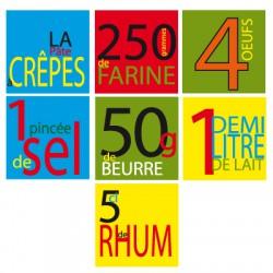 Stickers recettes cuisine colorés
