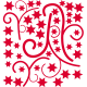 Sticker d'co noel - Branches et Etoiles