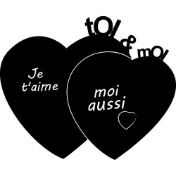 Sticker ardoise - Stickers Coeur
