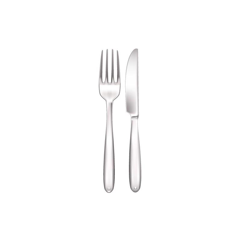 Stickers couvert cuisine r alistes fourchette et couteau - Couvert de cuisine ...