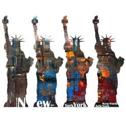 Stickers New York - Sticker Statue Libert' 4