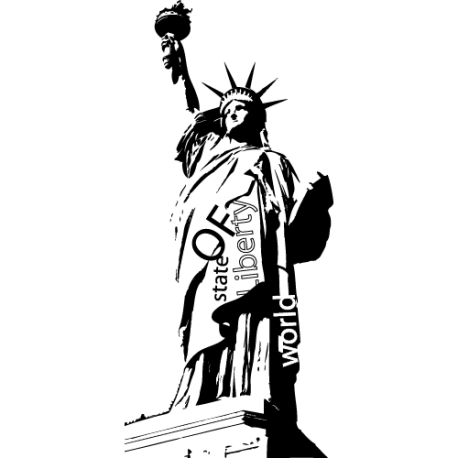 sticker New York - Sticker statue Libert'
