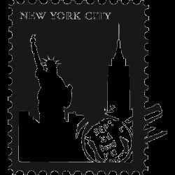 Sticker New York - Stamps