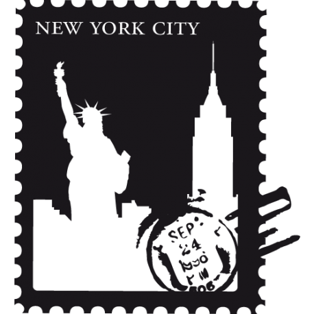 Sticker New York - Stamps