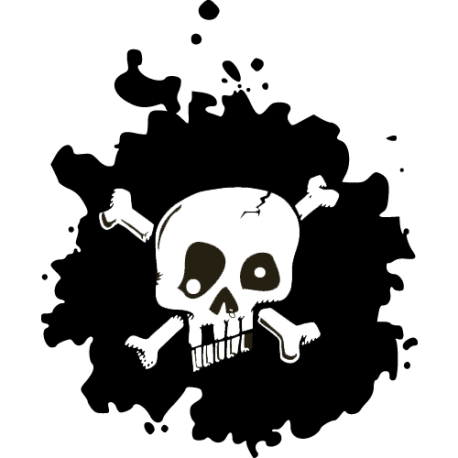 Stickers tete de mort