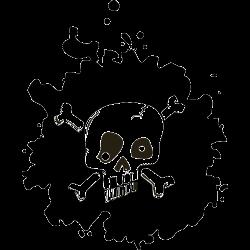 Sticker mural - Tete de mort