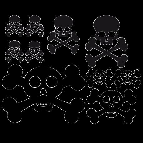 Stickers planche tête de mort