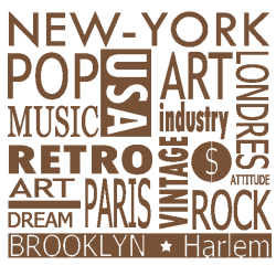 Sticker New-York - Stickers Textes