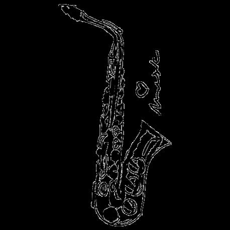 Sticker musique - sticker saxo