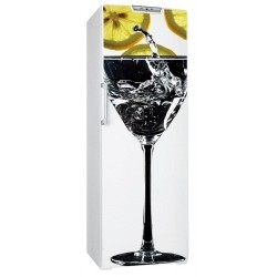 Sticker frigo cocktail citron