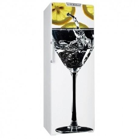 Sticker frigo cocktail citron