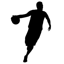 Sticker basketball - Joueur n1