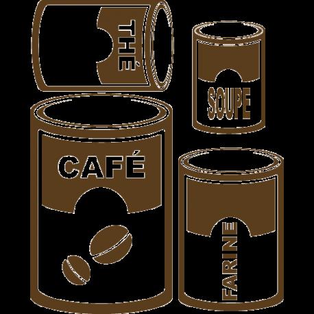 Stickers boites de cuisine
