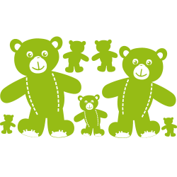 Stickers Ourson - Famille ours