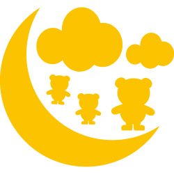 Stickers lune nuage et oursons