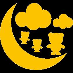 Stickers bébé - Lune, Nuages et Oursons