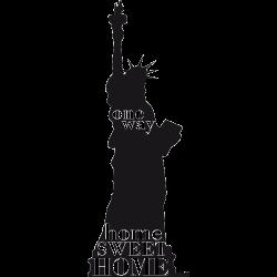 Sticker NEW York - Statue Libert' One Way