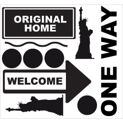 Kit stickers New York - One Way