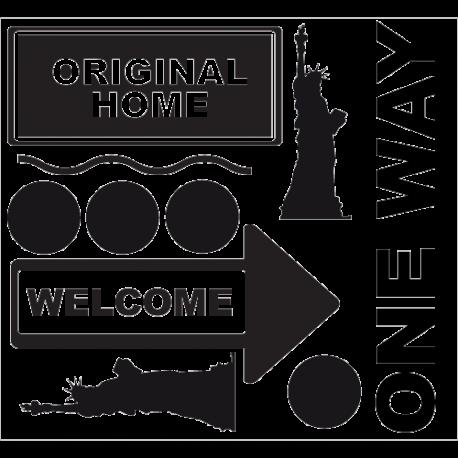 Kit stickers New York - One Way