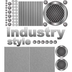Sticker industrie avec plaque