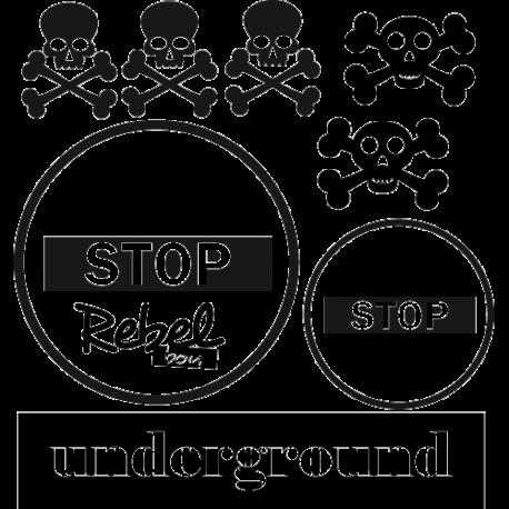 Sticker underground tetes de mort