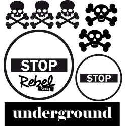Sticker rebel underground