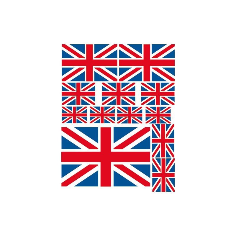 stickers drapeau anglais stickers en kit. Black Bedroom Furniture Sets. Home Design Ideas