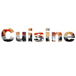Stickers texte cuisine photo new york