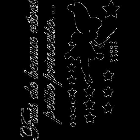 Sticker petite fée princesse
