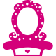 Sticker princesse - Miroir