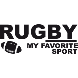Stickers rugby Kit texte ballon