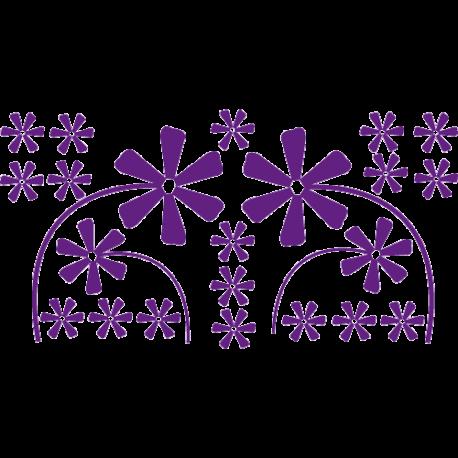 Stickers fleurs - Stickers fleur de douche