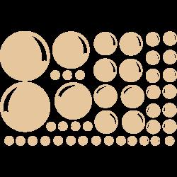 Stickers salle de bain - Stickers bulles