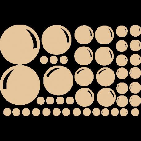 Stickers bulles salle de bain