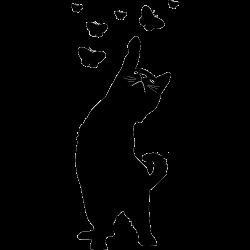 Stickers salle de bain - Sticker chat