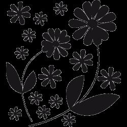 Sticker douche - Kit fleurs Gerbera