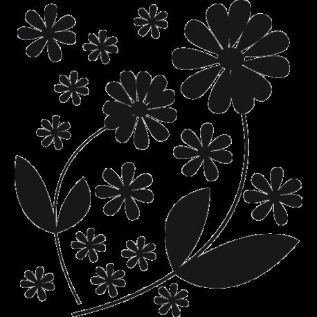Stickers fleurs en kit
