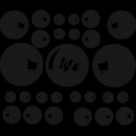 Stickers bulles pour WC