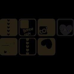 Stickers tete de lit - Les cubes