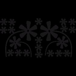 Stickers voiture fleurs d'co