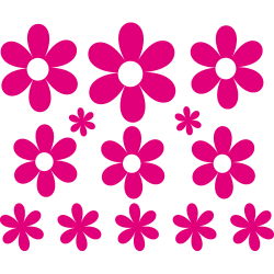 Stickers voiture fleurs r'tro