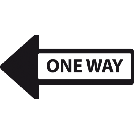 Sticker de fleche one way
