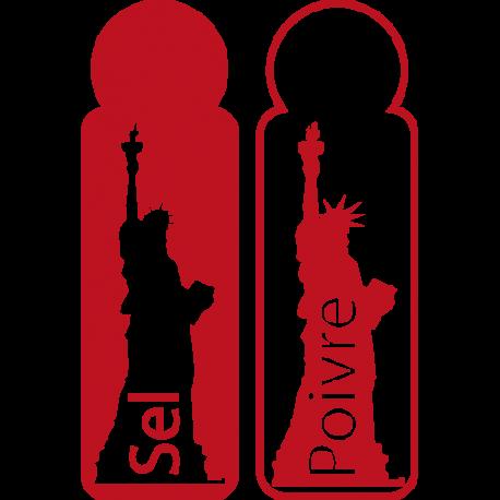 Stickers salière et poivrière
